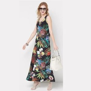 ATTITUDES BY RENEE Tropical Maxi Dress